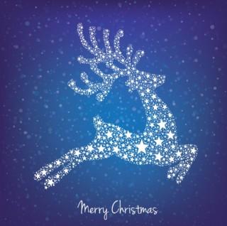 圣诞麋鹿星星素材