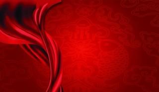 紅色背景 飄帶