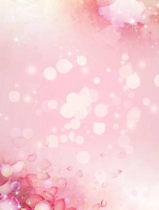 夢幻花朵背景