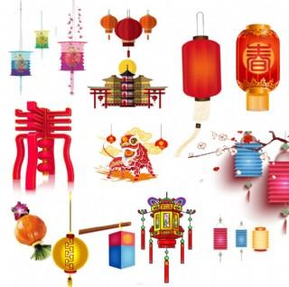 中国风灯笼素材