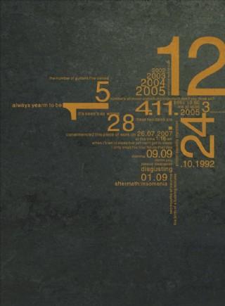 斑驳背景数字排版设计