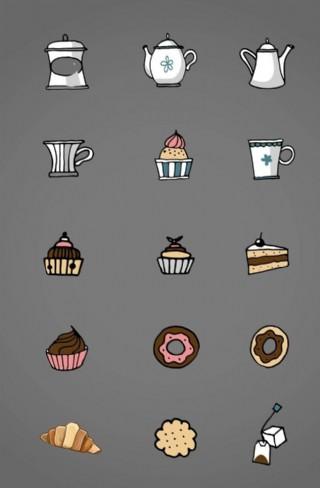 卡通 蛋糕 下午茶  小點心