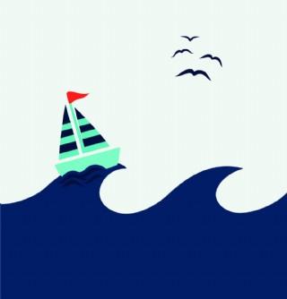帆船廣告背景裝飾素材