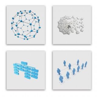 彩色组织结构图案