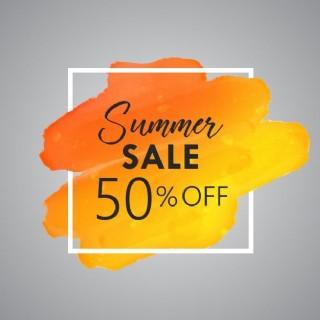 夏天的水彩細節銷售背景